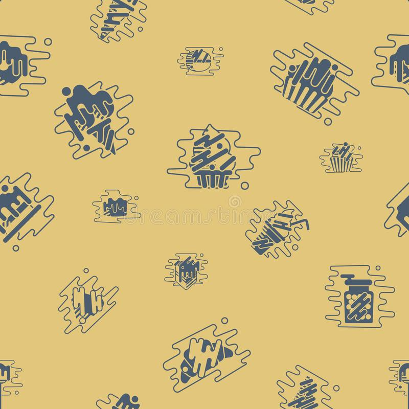 Dessert Seamless Pattern with Modern Flat Elements for Candy Shop stock illustration