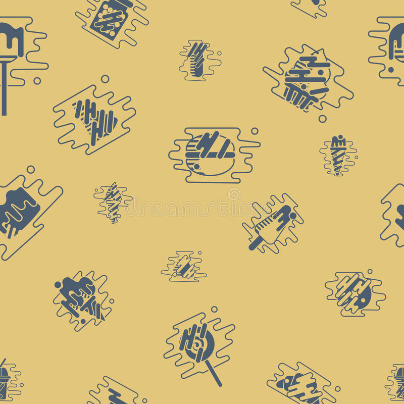 Dessert Seamless Pattern with Modern Flat Elements for Candy Shop royalty free illustration