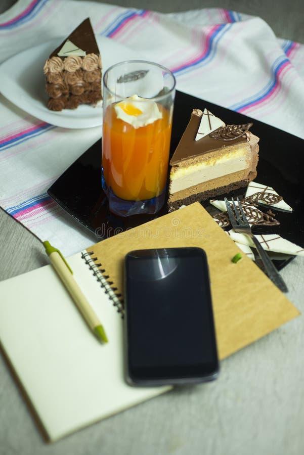 Dessert-slace del dolce fotografia stock libera da diritti