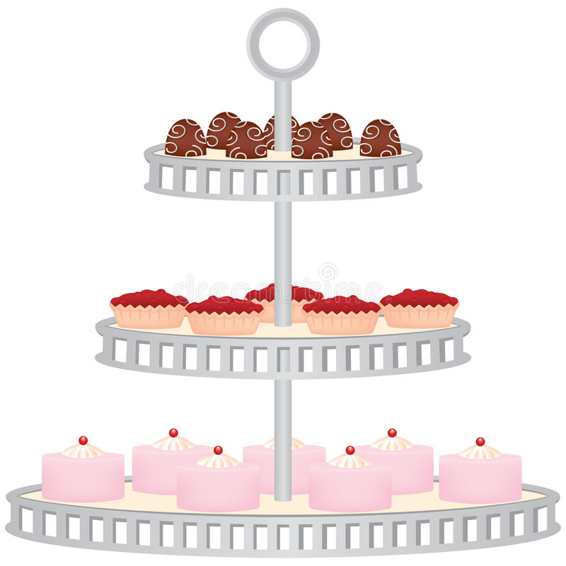 Download Dessert Stand stock vector. Image of stand, treats, four - 13961855