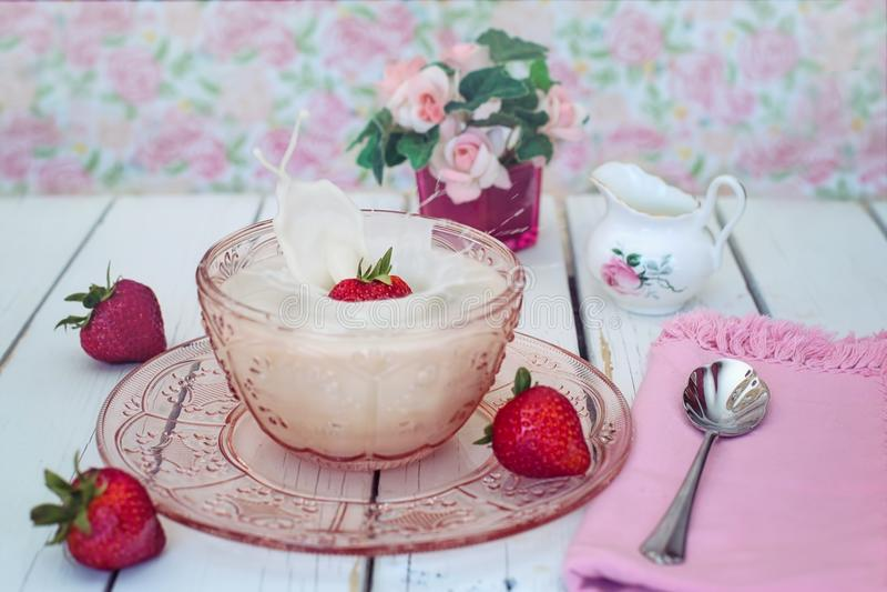 Dessert, Strawberry, Whipped Cream, Cream royalty free stock photos