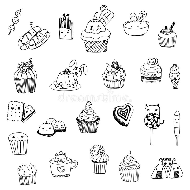 sweets background cartoon vector