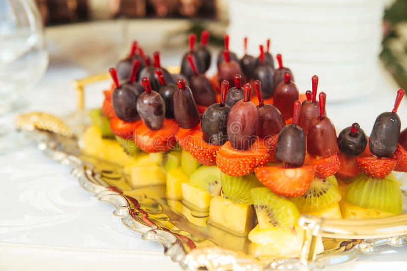Dessert table and candy bar royalty free stock photo
