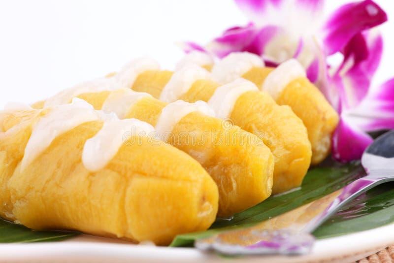 Dessert tailandese della banana immagini stock