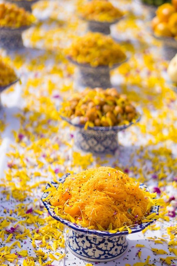 Dessert tailandese nella cerimonia immagine stock libera da diritti