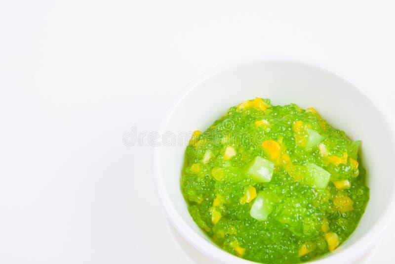 Dessert tailandese (sagu) fotografie stock