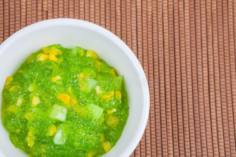 Dessert tailandese (sagu) immagine stock