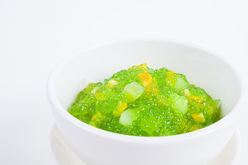 Dessert tailandese (sagu) fotografia stock libera da diritti