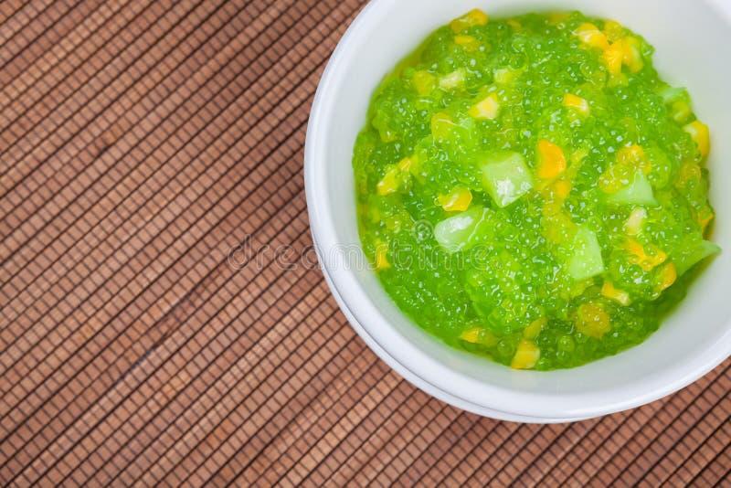 Dessert tailandese (sagu) immagine stock libera da diritti