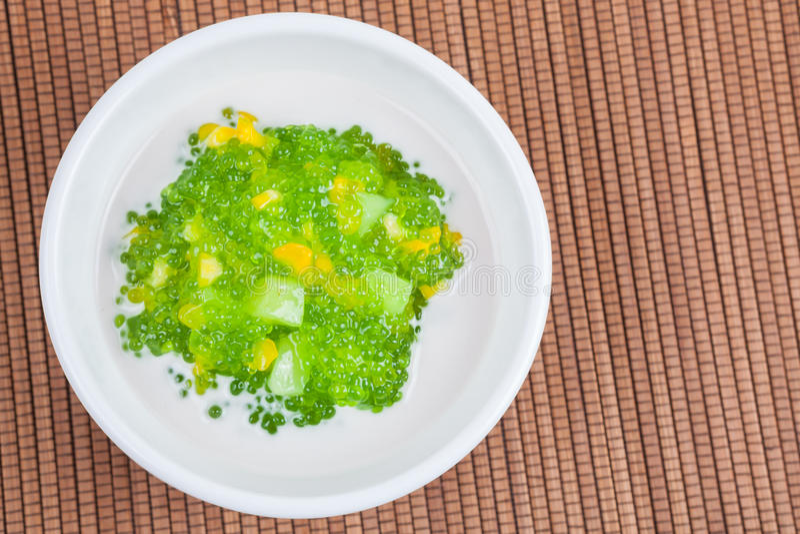 Dessert tailandese (sagu) fotografie stock libere da diritti