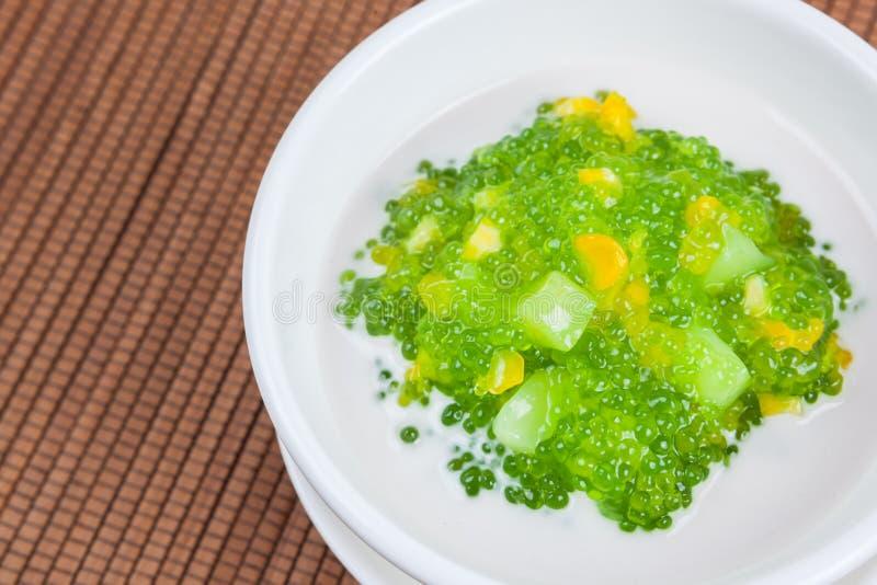 Dessert tailandese (sagu) fotografia stock