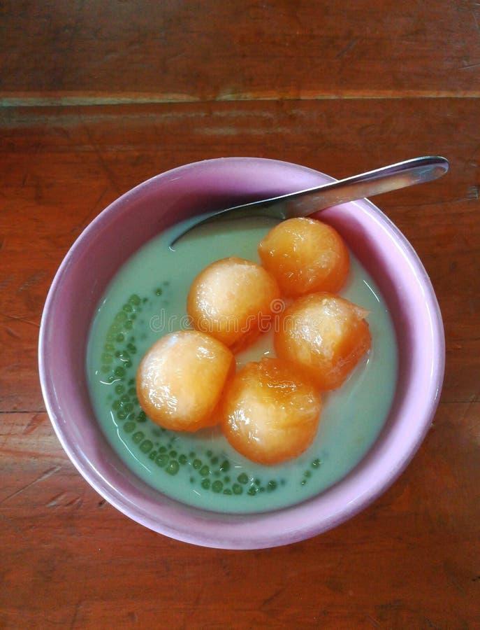 Dessert tailandese, Sakoo Piak, fotografia stock libera da diritti