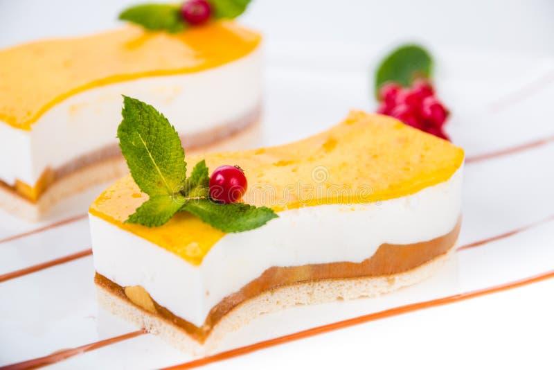 Dessert tart yogurt royalty free stock photo