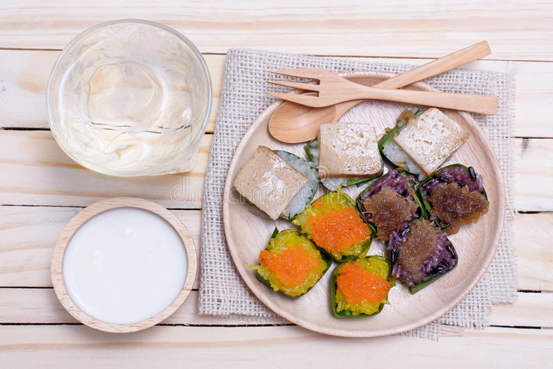 Dessert thaï images libres de droits