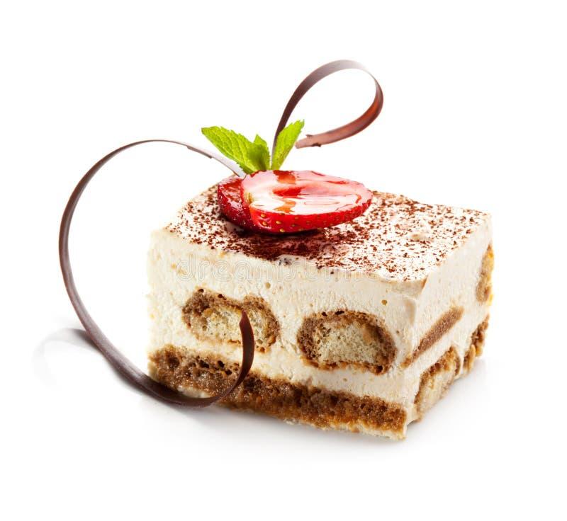dessert tiramisu arkivbild