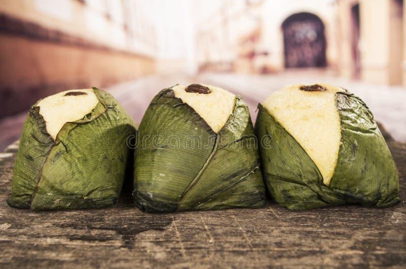 Dessert traditionnel d'ecuadorian de Quimbolitos photographie stock libre de droits