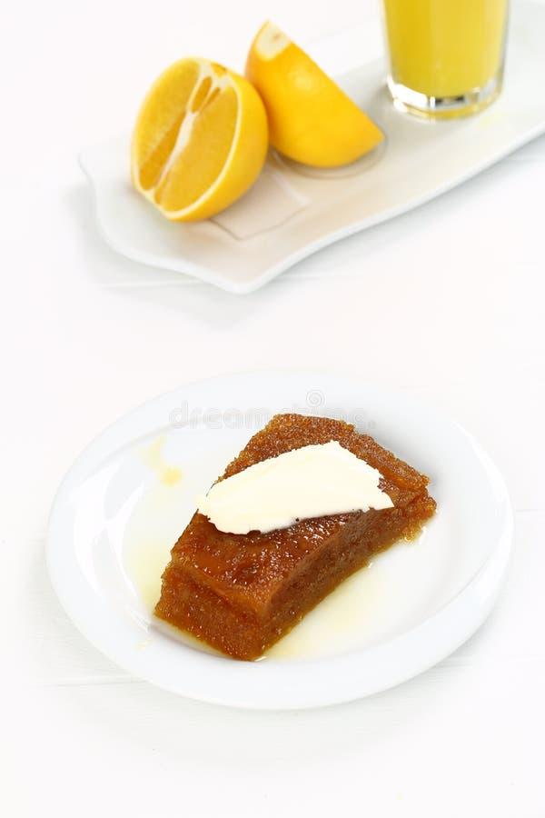 Dessert tradizionale turco Ekmek Kadayifi fotografia stock libera da diritti