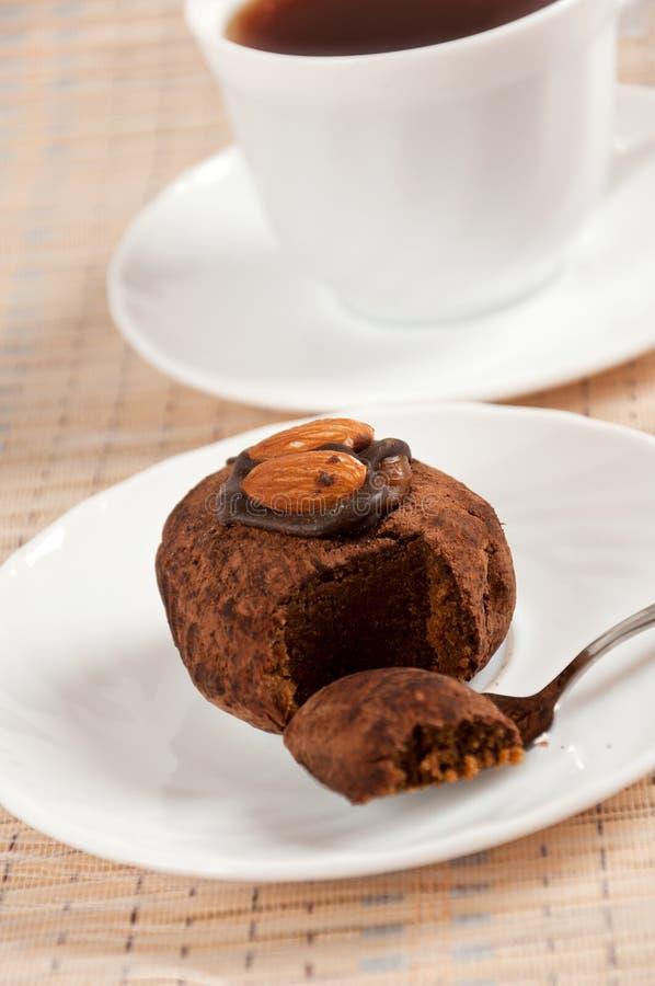 dessert - truffes et café d'amande photographie stock libre de droits
