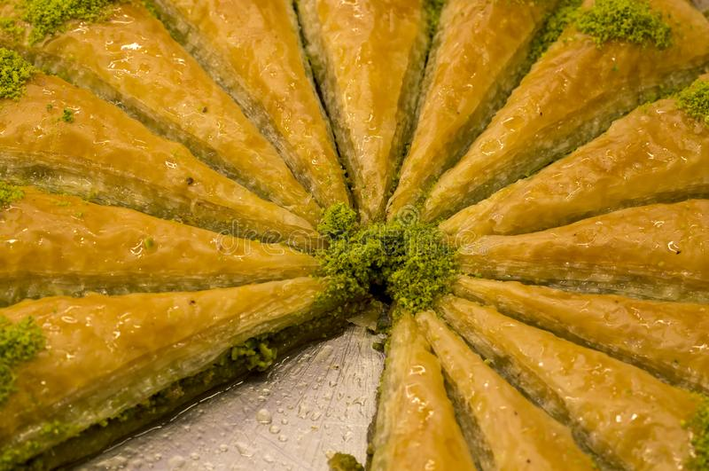 Dessert turchi tradizionali vari; Baklava deliziosa del dessert immagine stock libera da diritti