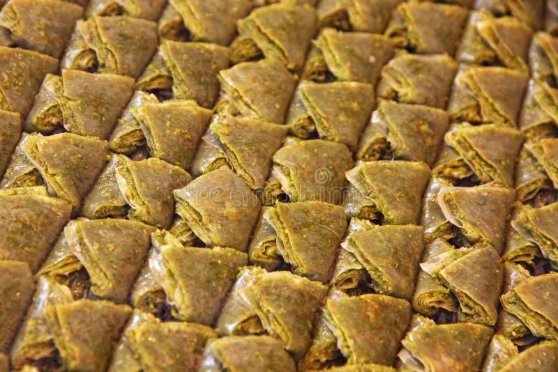 Dessert turco tradizionale della baklava fotografia stock libera da diritti