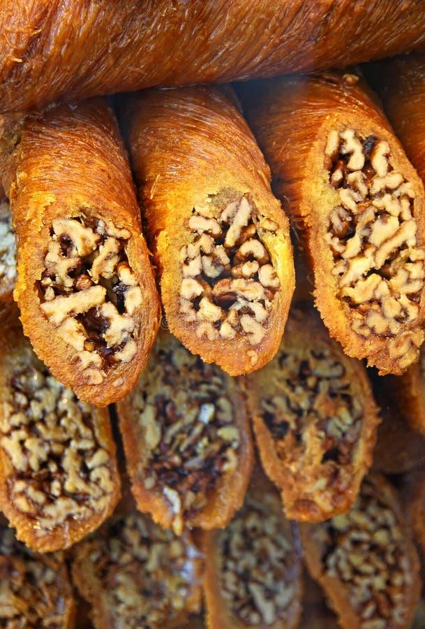 Dessert turco tradizionale della baklava immagine stock libera da diritti