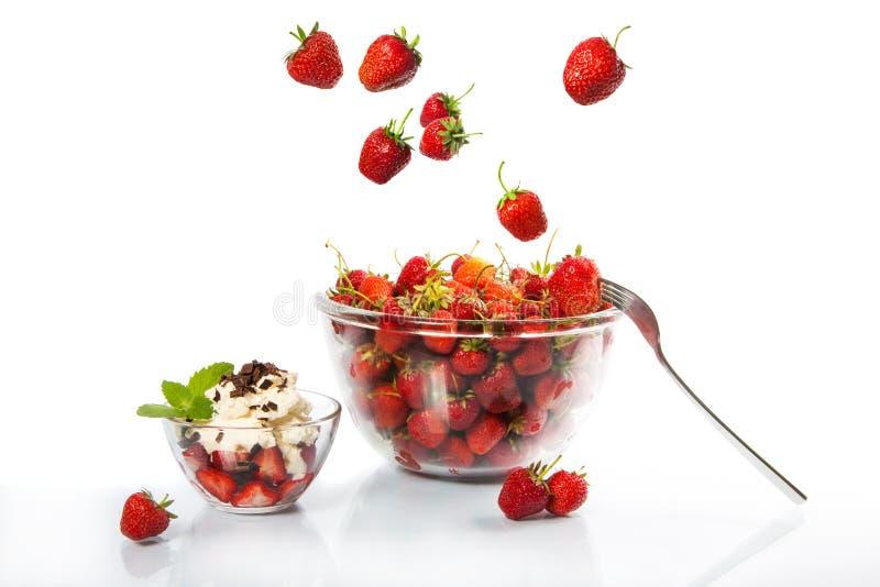 Dessert van aardbei royalty-vrije stock afbeelding