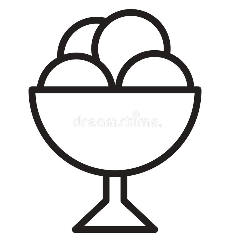 Dessert Vector icon which can be easily modified or edit vector illustration