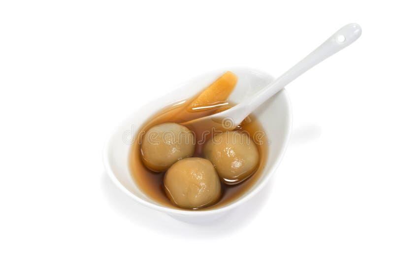 Dessert visqueux vietnamien de boules de riz photos stock
