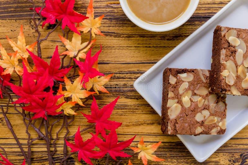 Dessert voor Koffieachtergrond stock afbeeldingen