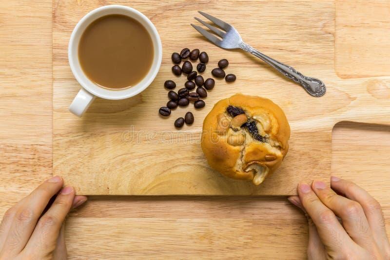Dessert voor Koffiepauze/Dessert voor Koffiepauzeachtergrond royalty-vrije stock foto