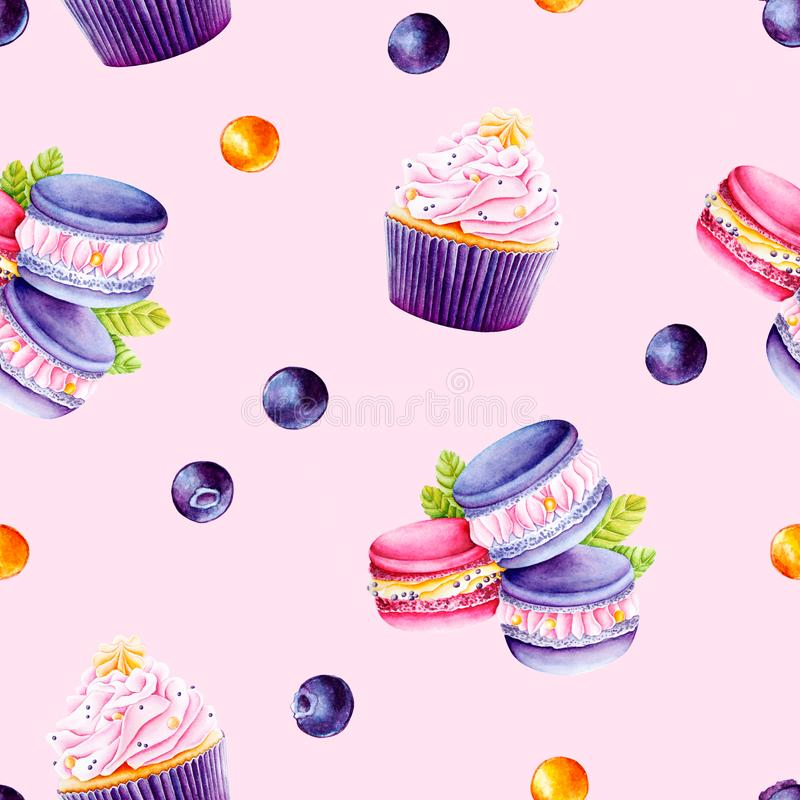 Dessert watercolor illustration vector illustration