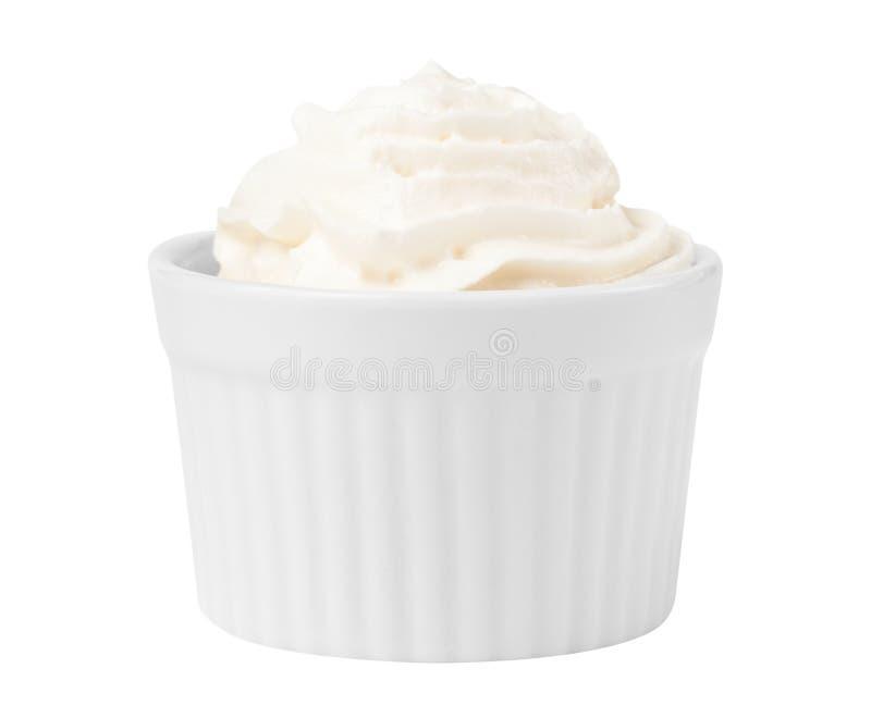 Dessert whip cream stock photography