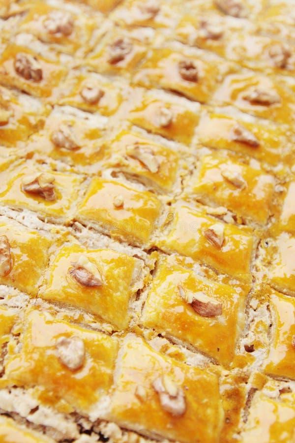 Dessertbaklava stock afbeeldingen