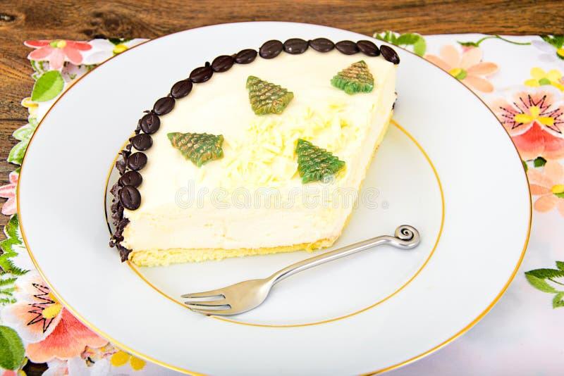 Dessertcake met Coggee-Bonen stock afbeeldingen
