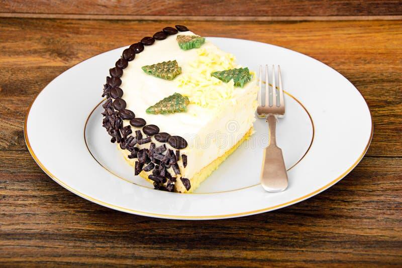 Dessertcake met Coggee-Bonen royalty-vrije stock afbeelding