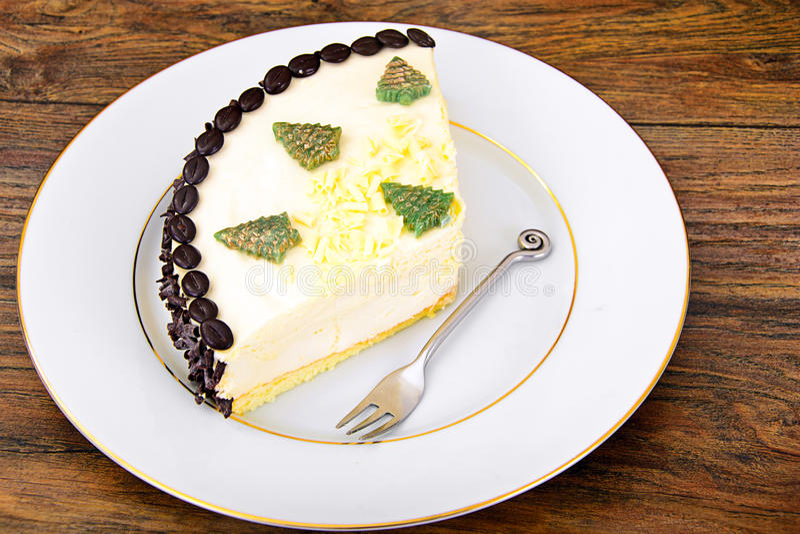 Dessertcake met Coggee-Bonen royalty-vrije stock afbeeldingen