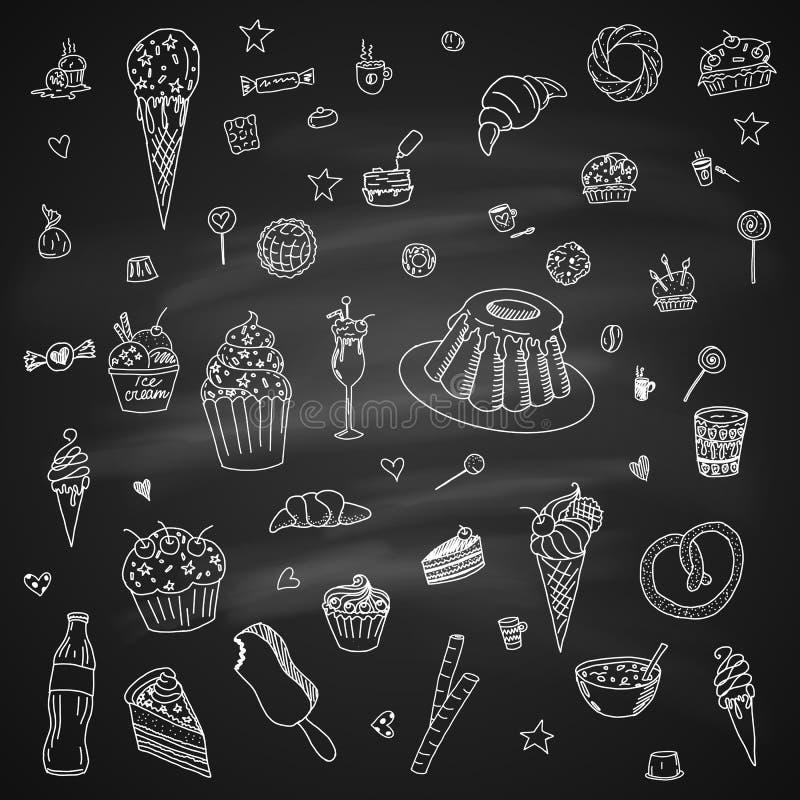 desserts stock illustratie