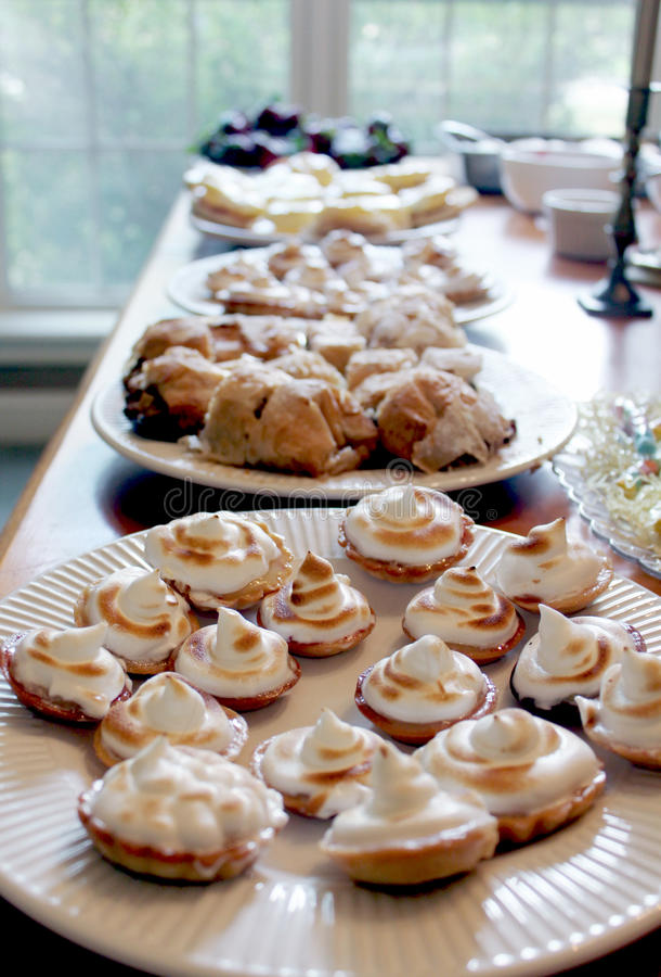 Desserts stock afbeelding