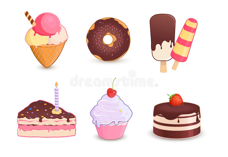 Desserts illustration libre de droits