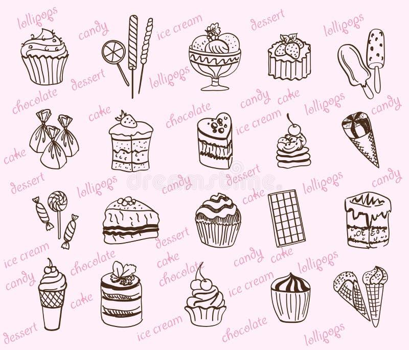 desserts vector illustratie