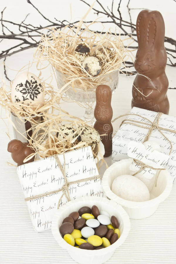 Desserts de Pâques image stock