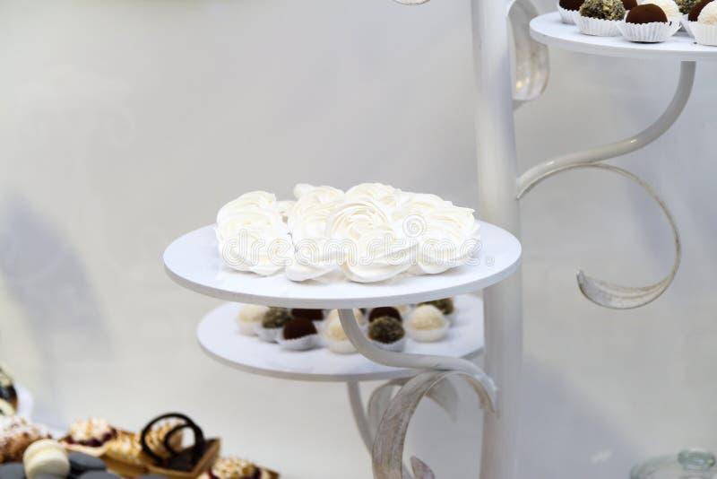 Desserts en cakes stock foto