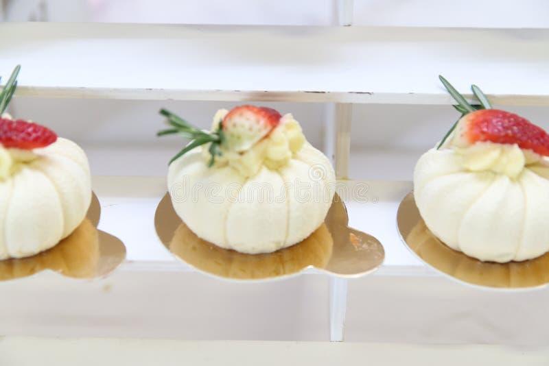 Desserts en cakes stock afbeeldingen