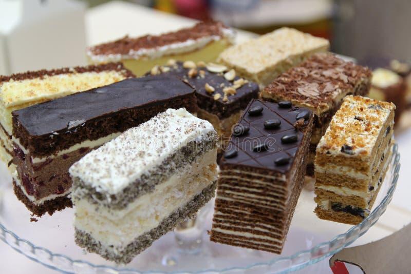Desserts en cakes royalty-vrije stock foto