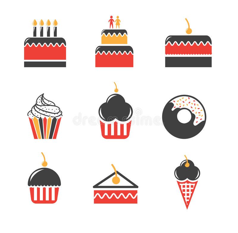 Desserts icons. Over white background vector illustration vector illustration