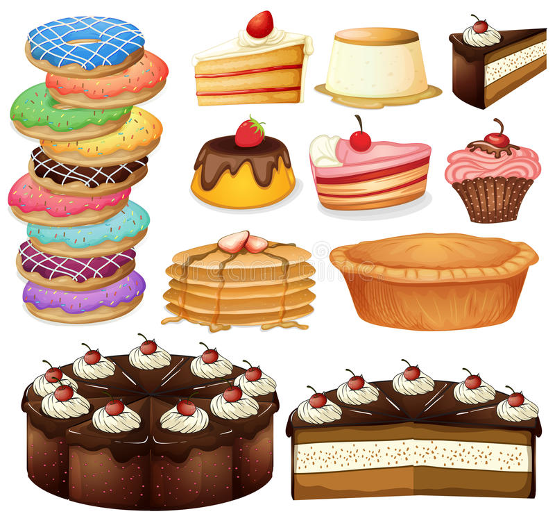 Desserts stock illustration