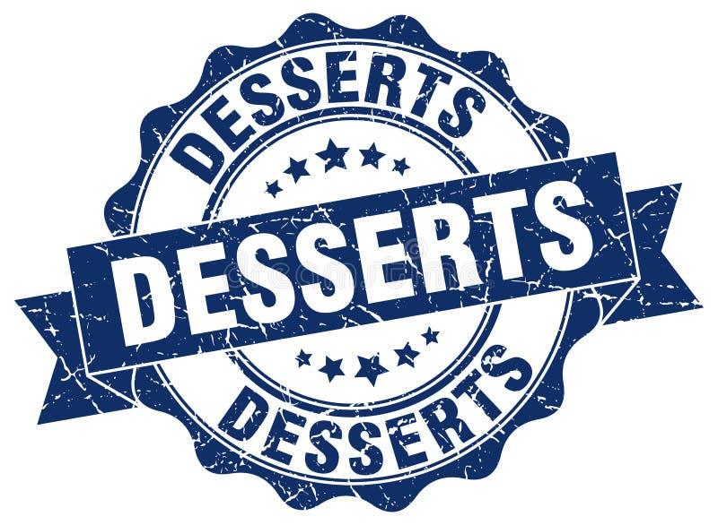 desserts seal. stamp vector illustration