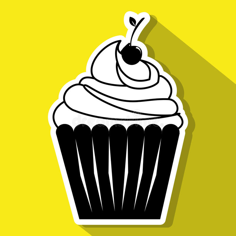 Desserts and sweets. Graphic design, illustration eps10 royalty free illustration