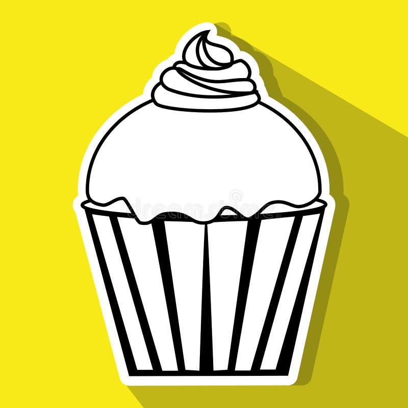 Desserts and sweets. Graphic design, illustration eps10 stock illustration