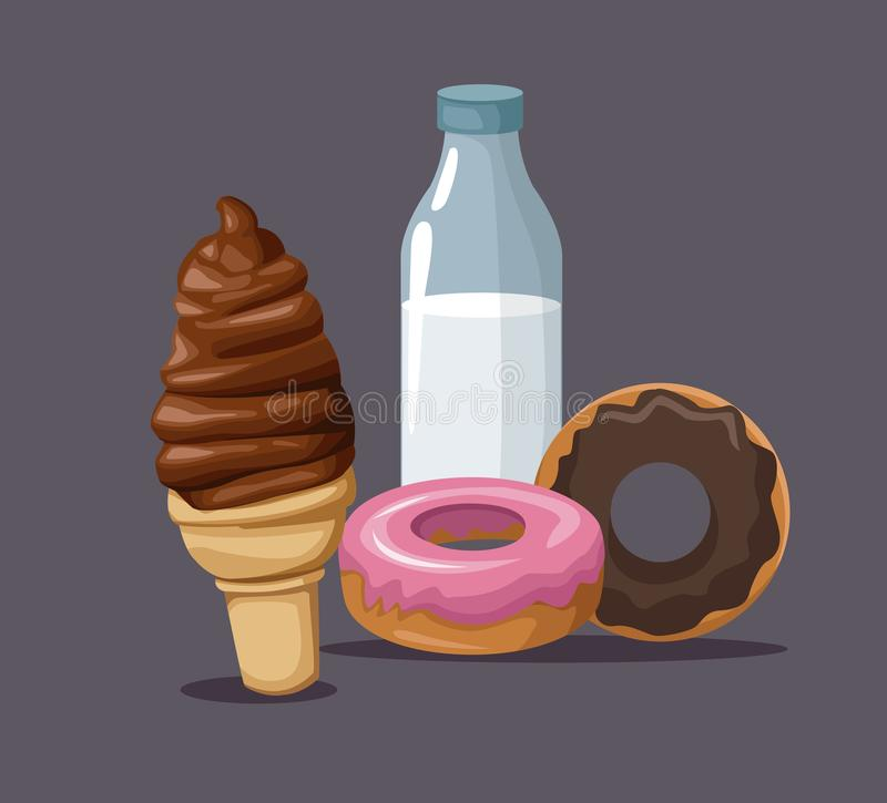 Desserts and sweets. Icon vector illustration graphic design royalty free illustration